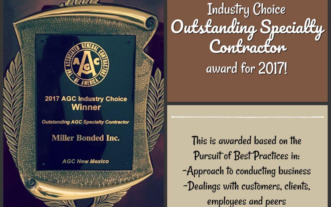 AGC's – Outstanding Specialty Contractor 2017
