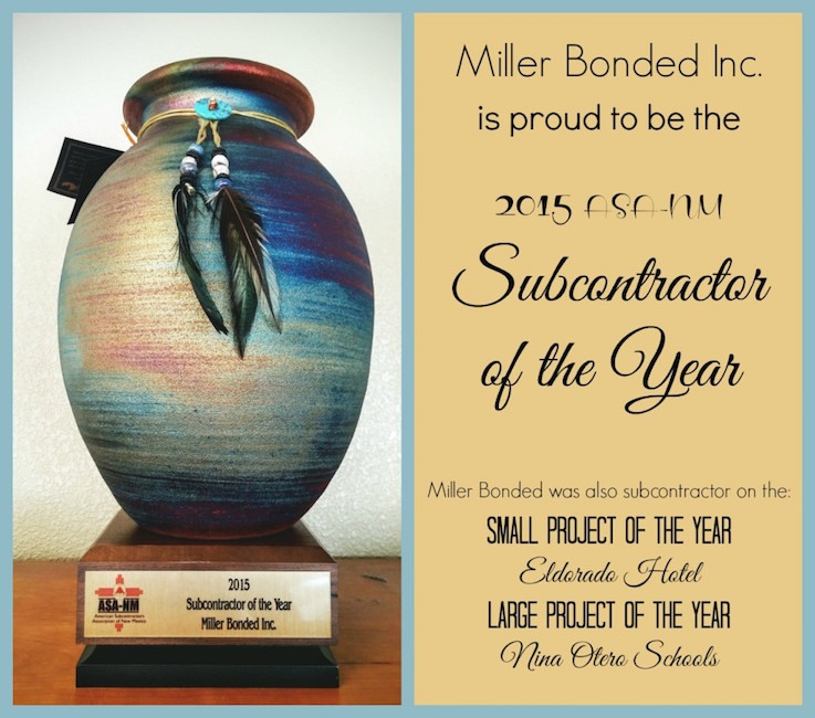2015 ASA-NM Subcontractor of the Year.